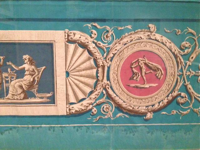 Wallpaper fragment, French 1780-85