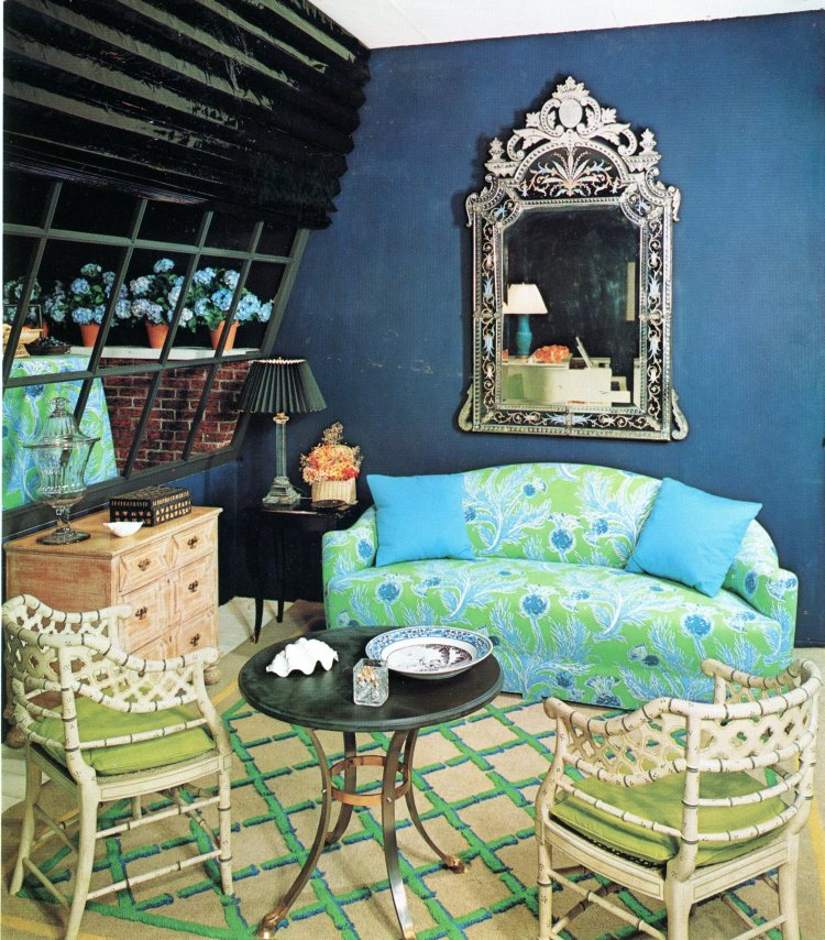 Design by Angelo Donghia from the book Decoration U.S.A., 1965