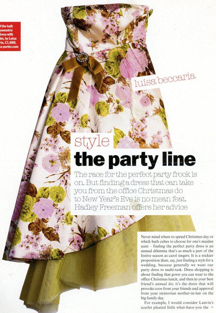 Dress by Luisa Beccaria, British Vogue